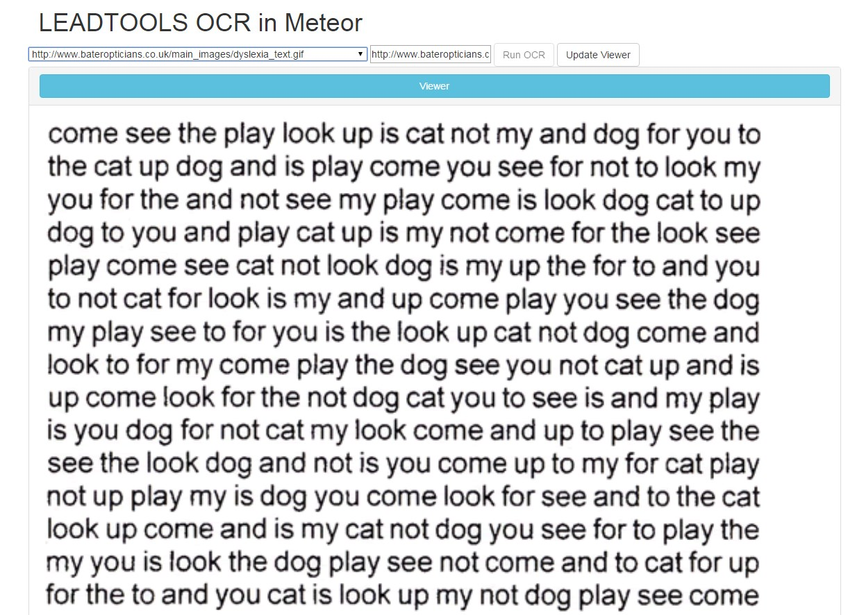 Meteor OCR Demo Screenshot Text from GIF