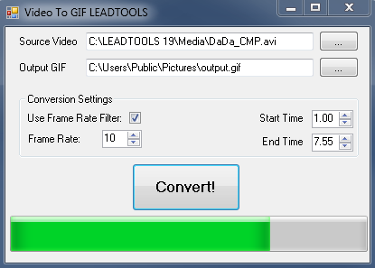 Video to GIF Screenshot In Progress