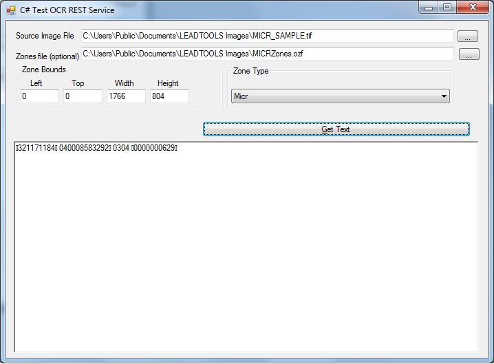 Testing MICR Web Service