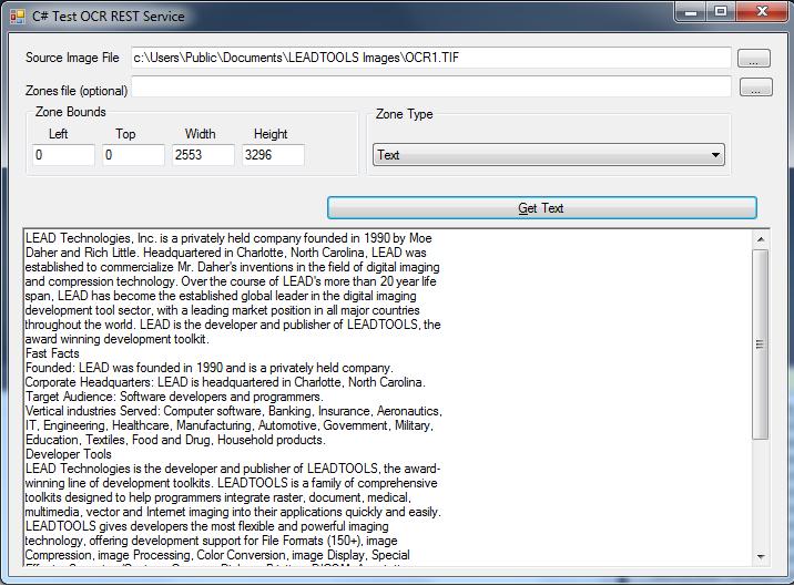 Testing OCR Web Service
