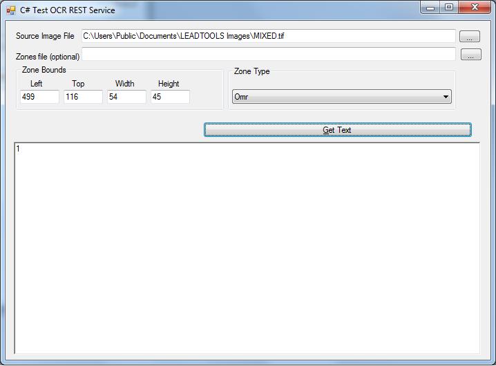 Testing OMR Web Service