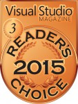 2015 Visual Studio Magazine Readers Choice Award Bronze Medal
