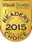 2015 Visual Studio Magazine Readers Choice Award Gold Award