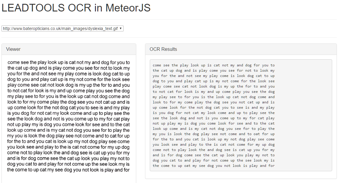 OCR MeteorJS Screenshot