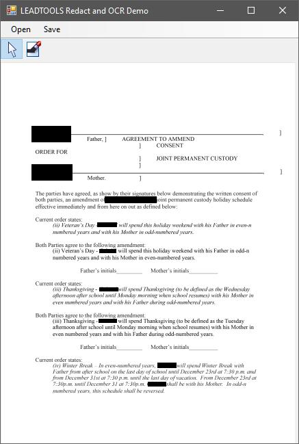 Redaction PDF OCR