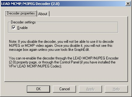 DRIVERS UPDATE: MJPEG CODEC VFW