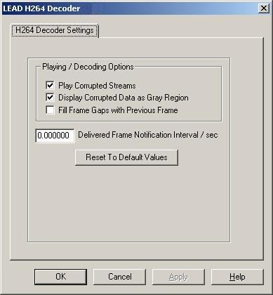 LEAD H264 Decoder User Interface | H264 | Multimedia