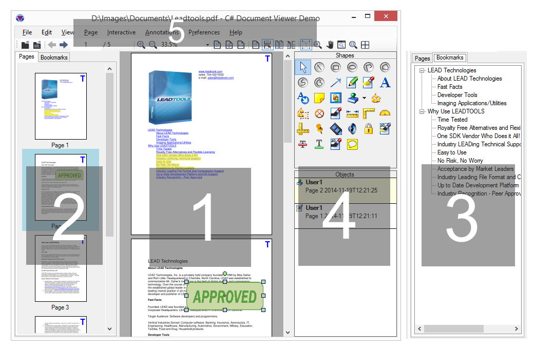Using the LEADTOOLS Document Viewer | HTML5 JavaScript Help