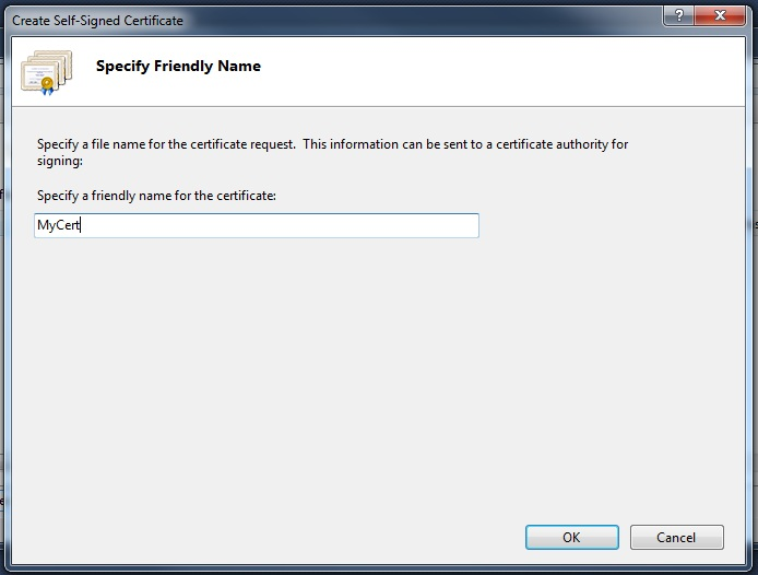 how to create self signed certificate in windows cli