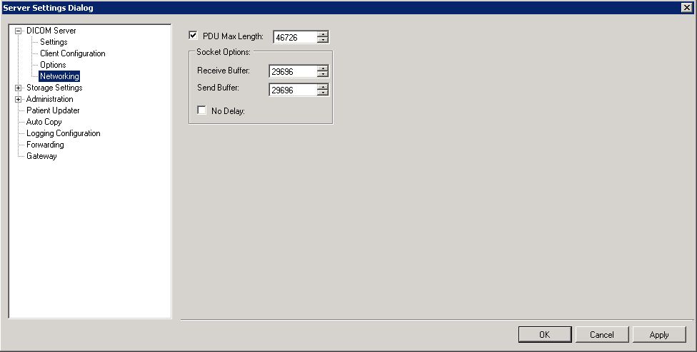 Configuring the LEADTOOLS Storage Server Application using the