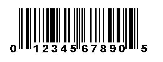 نتيجة بحث الصور عن barcode UPC-A