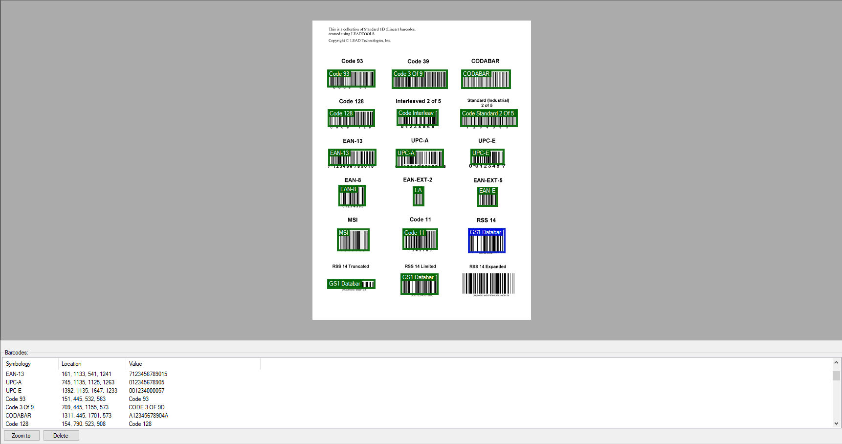 Barcode SDK Technology | C#  NET Toolkit | LEADTOOLS
