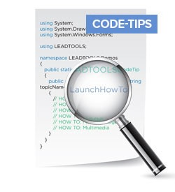 LEADTOOLS Code Tips