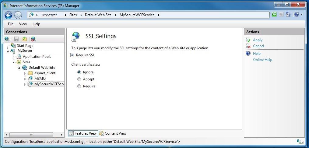 Require SSL